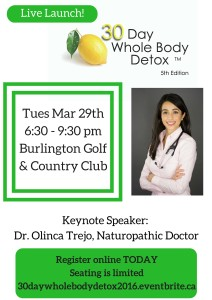 Live Launch! julie boyer, 30 day whole body detox
